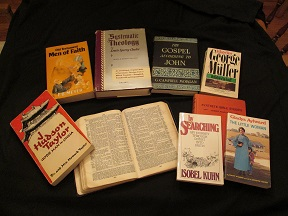 A few of my favorite biographies and Bible study tools.