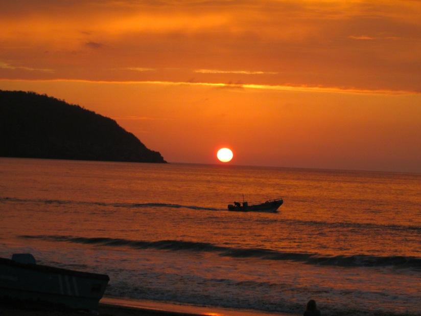 Ecuador Pacific Sunset, Puerto Lopez - 2014