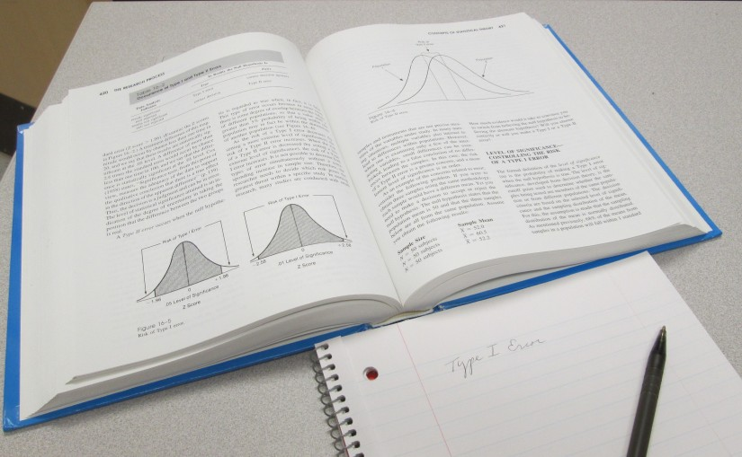 God helped me conquer my old foe, Statistics, in graduate school!
