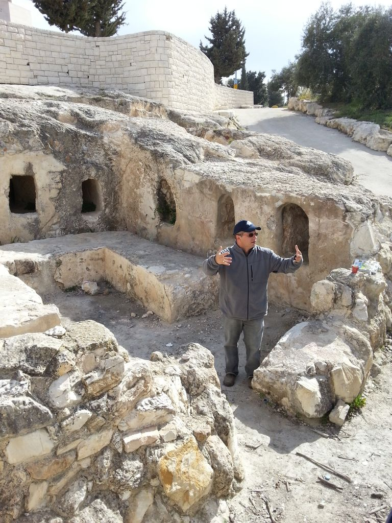 An empty tomb of a wealthy family from the time of Christ