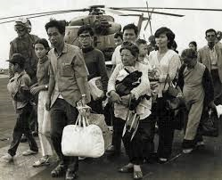 Laotian Refugees coming off the boat in the 1970's