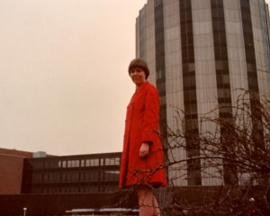 I stand in front of the new hospital tower where I worked as a new graduate nurse.