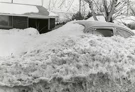 My car was buried after the Blizzard of 1978!
