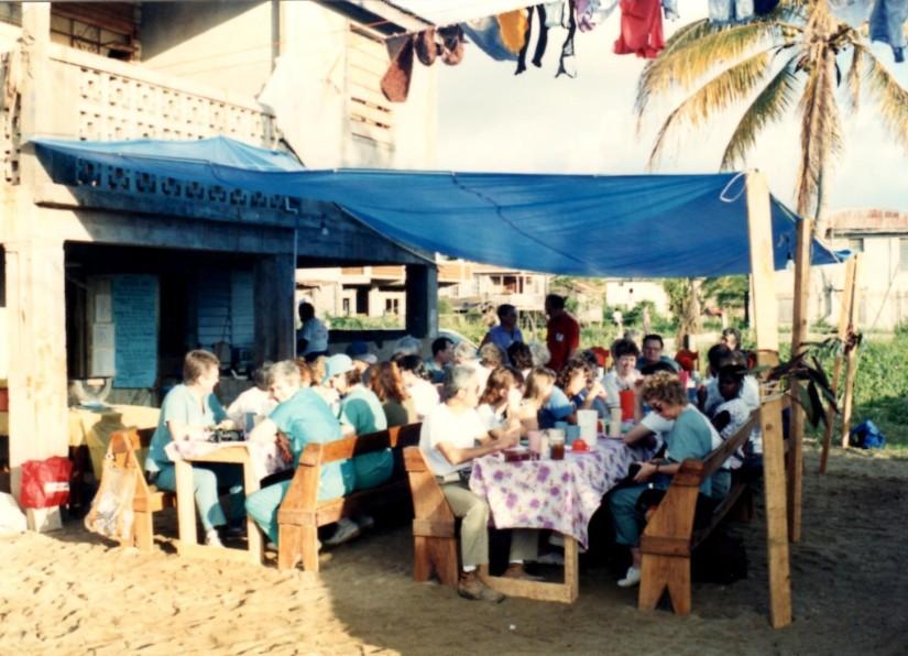 Belize dinner 1988