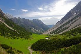 Austrian Valley in the Alps