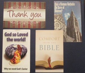 Some of my favorite gospel tracts to give to people.