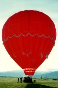 Fabulous balloon ride in Idaho over ranch land!