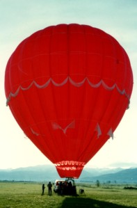 Fabulous balloon ride in Idaho over ranch land!