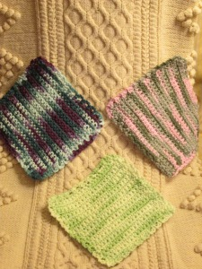 Knitting and crocheting are favorite stress breakers!