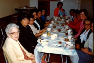 The Ladies' Tea - Mrs Black is the first on the left.