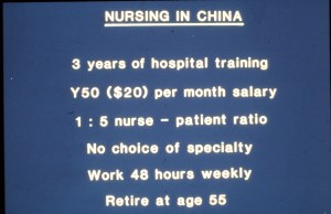 Nursing in China