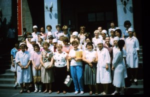Tour Group photo with hospital nurses.