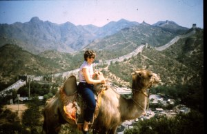 My favorite photo of China as I sat on the unfriendly camel.
