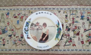 My fading China plate from Repulse Beach with silk embroidery