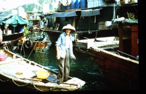 Friendly elderly man who lives on his boat in the fishing village.