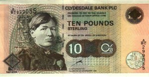 Mary's image on the 10 pound note of Scotland!