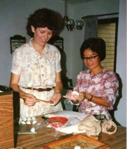 Mrs. S. taught me how to make dumplings!