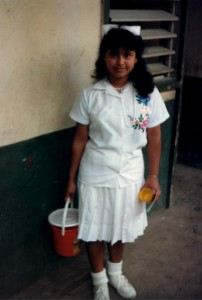 Gladys, our water girl, taught me Spanish. We had fun  together!