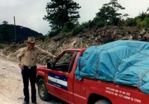 Maurice transported the team's luggage and me to the clinic site.