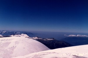 Bluest sky I ever saw on top of the Jungfrau.