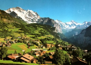 Charming village of Wengen where I stayed for two weeks.