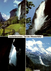 Trummelbach Falls flow inside a mountain.
