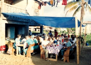 Fabulous meals were prepared for us by the Pastor's wife who owned a restaurant.
