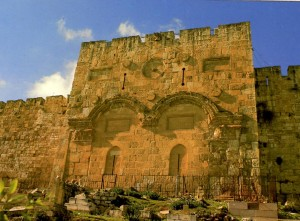 Golden Gate in Jerusalem which Christ rode through on Palm Sunday