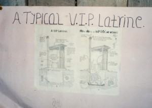 Instructions in the school on how to build a VIP (Very Important Processes) odorless latrine