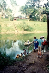 49 Crossing river to YWAM camp
