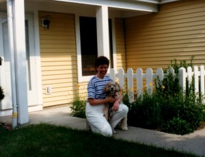 My dog Sandy and I bid farewell to the house I built 8 years ago.