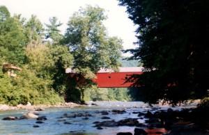Cornwall CT covered bridge 1991