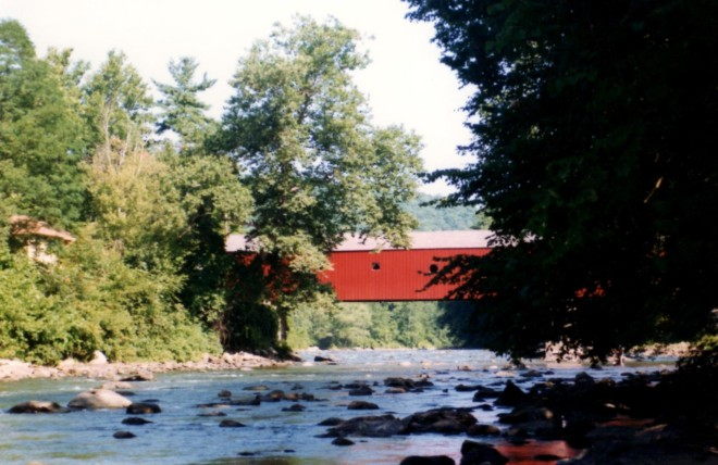 Cornwall CT covered bridge 1991